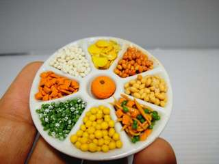 Dollhouse miniature : a platter of nuts for  CNY
