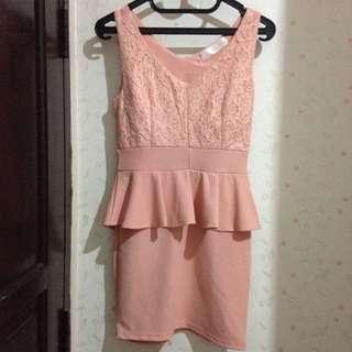 Peach dress