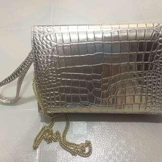 Harvey Nichols Clutch Bag - golden colour