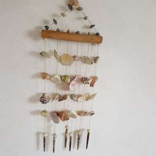 Unique hanging shells decoration