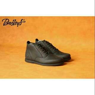 Sepatu pria kulit bradleys morgan black