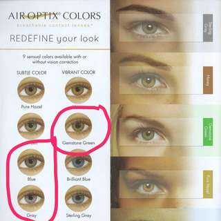 Air optix colour contact
