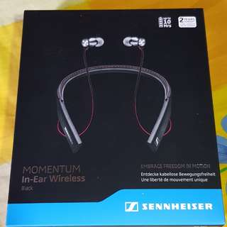 Sennheiser Momentum In-Ear Wireless (Neckband) (Black)