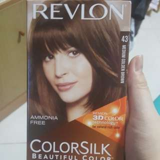 REVLON COLORSILK Hair Dye in 43 Medium Golden Brown