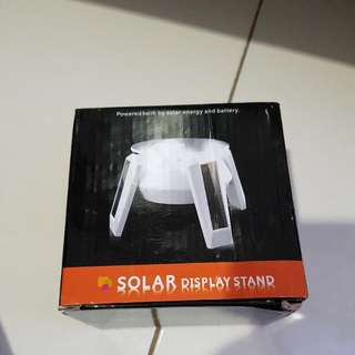 solar display stands