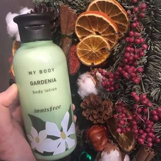 Innisfree body lotion GARDENIA💐90%new