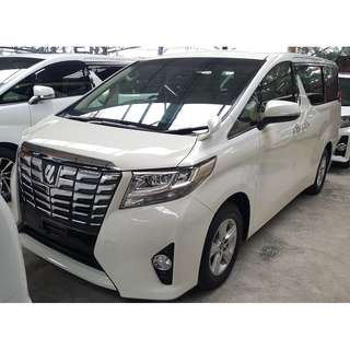 TOYOTA ALPHARD 2.5 X 8 SEATER FULL LEATHER SEAT R/MONITOR (A) UNREG 2015 TIP TOP CONDITION