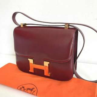 Hermes C24 Wine Rouge