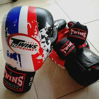 Rare Iconic Twins Special Thai Flag 12 Oz Boxing Gloves
