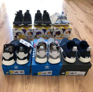 All for sale ! Adidas ub & nmd us 5.5/6/7/8 Melbourne