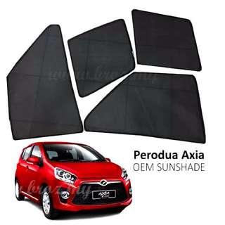 Custom Fit OEM Sunshades/ Sun Shades for Perodua Axia (4pcs)