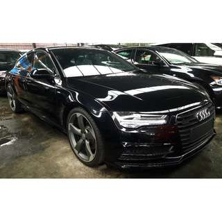 AUDI A7 3.0 TFSI BLACK EDITION FACELIFT HUD BOSE AUDIO (A) RARE UNIT UNREG 2015 PROMOSI TEKAN SINI