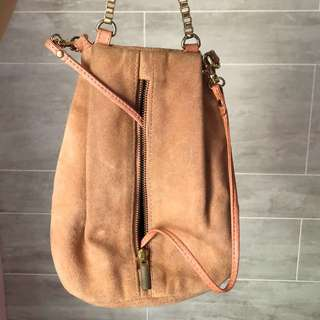 Topshop bag in dusty pink