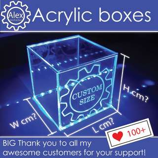 Customised Acrylic Box - DIY & Customize for Home / Office / School Projects, Display Casing, Electronic circuits ,  and more!
