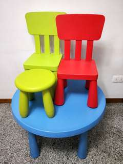 FOC Ikea kids 1 table & 3 chairs