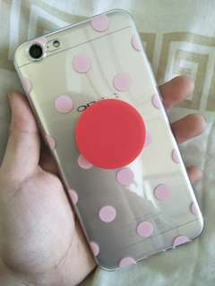 Polka Dots Soft TPU Case with Pop Socket