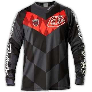 🆕! Troy Lee Designs Racing 🏁 Black & Red Long Sleeve Jersey