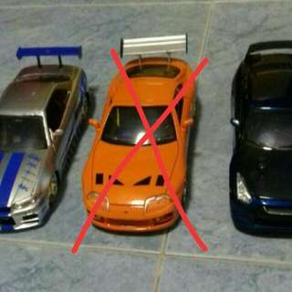 Selling discontinued Paul Walker's 3 1:24 Jada Cars $10.98 is just a price holder