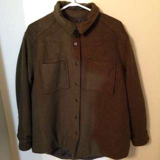 Olive Tweed Coat
