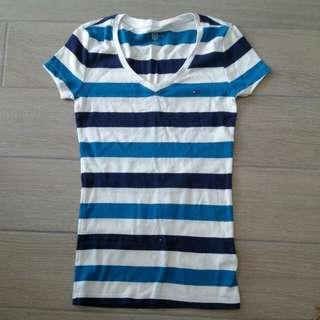 Tommy Hilfiger 貼身橫間tee (slim fit cotton stripes tee)