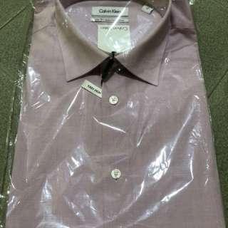 Authentic Calvin Klein slim fit easy iron cotton shirt
