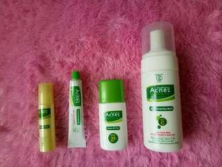 Foaming wash, uv tint, acne point clear,  acne sealing gel