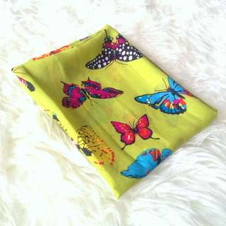 •NEW• Lime Green Butterfly Shawl
