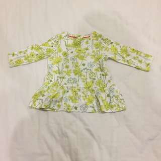 Marks and Spencer flowery top age 3-6m nice and sweet