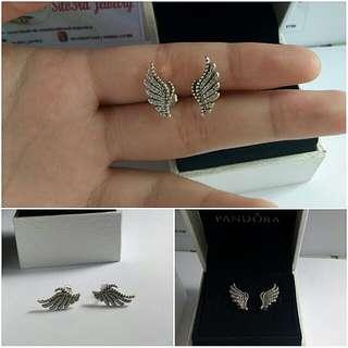 Phoenix Feather Silver pandora stud earringd