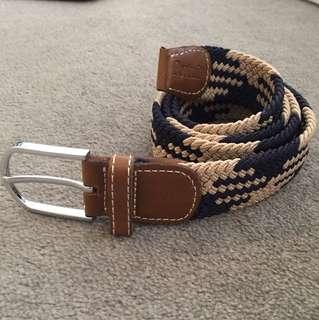 Navy and Tan nautical belt