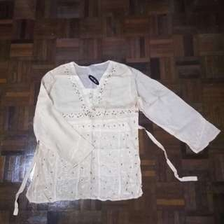 Long sleeves blouse (free size)