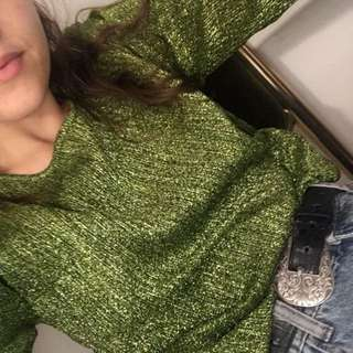 Sparkly Green Top