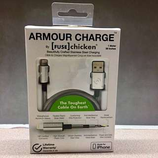 Armour Charge Stainless Steel Lightning Cable for iPhone