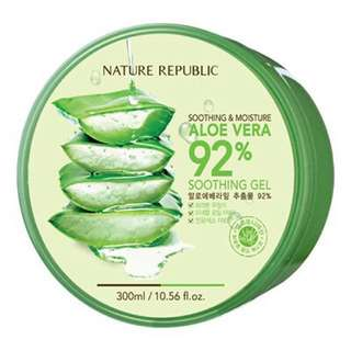 #Huat50Sale NEW! Korea-made Nature Republic Soothing & Moisture Aloe Vera 92% Soothing Gel (300ml) - Free delivery