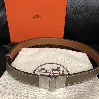 Hermes belt etoupe (original 11,000)