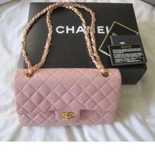 Chanel classic lambskin 23cm 24k金扣超罕款🌸
