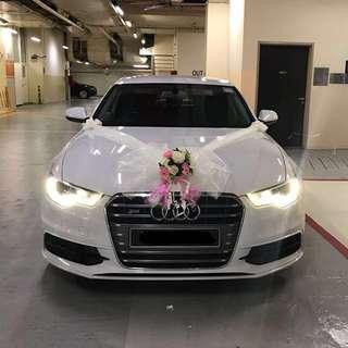 Wedding Car Audi A6 White Bridal Car