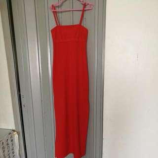 Red Highwaisted Dress