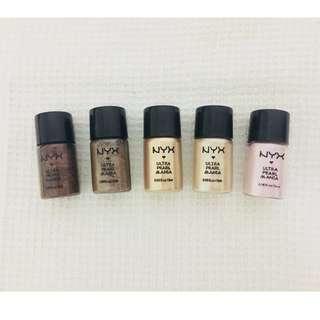AUTHENTIC! BRAND NEW! NYX Ultra Pearl Mania Eyeshadow Pigments SET OF 5! MAC SEPHORA URBAN DECAY