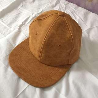 Tan brown snapback