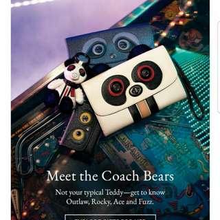 COACH Bear Card Pouch