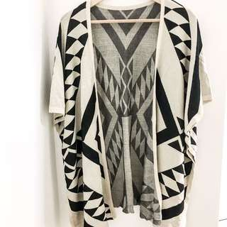 Aztec Cardigan throwover