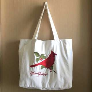 節日Season's Greetings Embroidery繡花Tote Bag X'mas