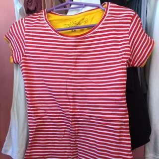 H&M Red & White Stripes Shirt