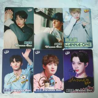 Wanna one yes card飯卡