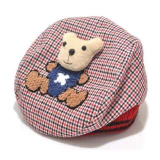 Teddy baby hat - red