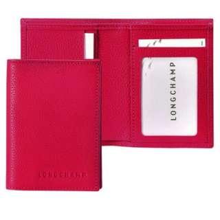LC038*LONGCHAMP LE FOULONNÉ CARD HOLDER (PINK)
