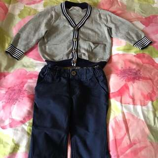 Boy chickeeduck knitwear and H&M pant set