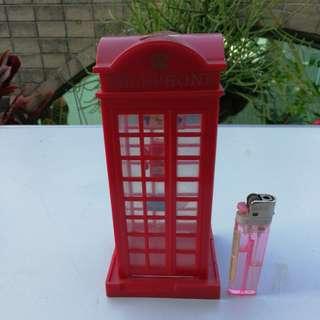 塑膠 電話亭 錢箱