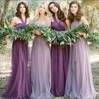 Dark purple bridesmaid